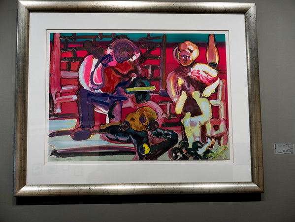 "Romare Bearden, ""Louisiana Serenade, from the Jazz Series"", 1979. 24.25x33.75 inches. Lithograph"