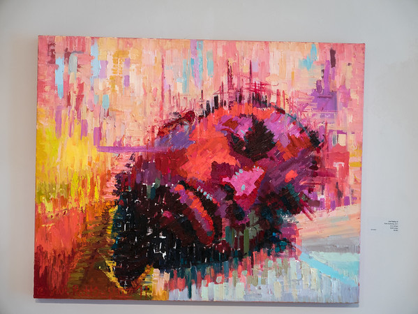 "Juie Rattley III, ""Rude Awakening"", 2011. 32x40 inches. Oil on canvas"